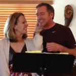 Susanna Gets Cheeky with Rocky Blumhagen during Gershwin Fundraising Rehearsal
