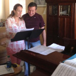 Gershwin in Rehearsal for Fundraising Event